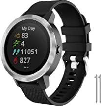 NotoCity for Garmin Vivoactive 3 Band, 20mm Quick Release Soft Silicone Replacement Band for Garmin Vivoactive 3 / Garmin Forerunner 645 /Samsung Gear Sport/Galaxy Watch 42mm