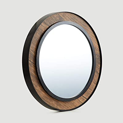 Home Centre Corvus Wooden Finish Wall Mirror