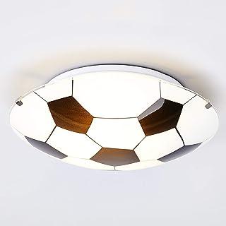 Lámpara de techo 'Fußball' (Moderno) en Blanco hecho de Vidrio e.o. para Cuarto de los niños (1 llama, E27, A++) de Lindby | lámpara de techo infantil, lámpara de techo, lámpara