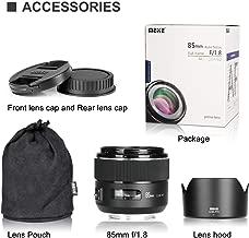 Meike 85mm F/1.8 Auto Focus Aspherical Medium Telephoto Portrait Prime Lens for Canon EOS EF Mount Digital SLR Cameras