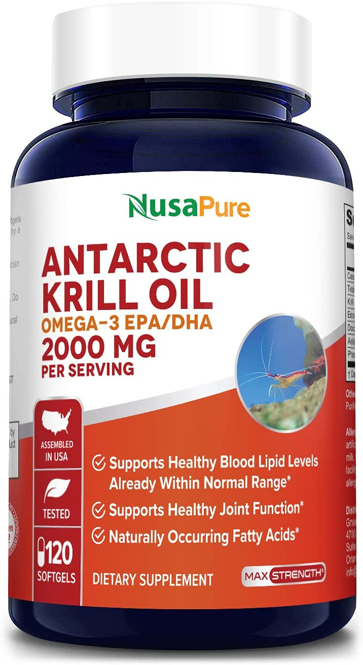 Albuquerque Mall Antarctic Fashion Krill Oil 2000 mg 120 Omega-3 Softgels DH 360mg EPA