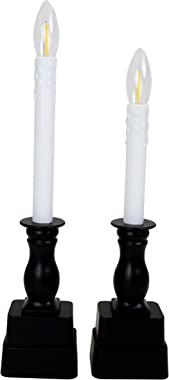 Boston Warehouse Allure Battery Operated Flameless Window Candles with Timer, Set of 4, Black