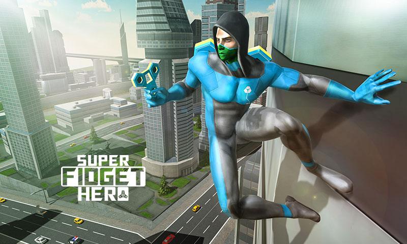 Fidget Spinner Flying Superhero Game
