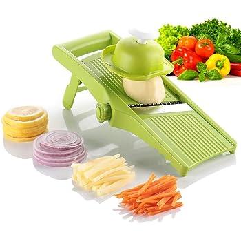 Mandoline Vegetable Slicer Salad Shredder,Premium Quality Grater, Cutter,Peeler Adjustable Blades Thickness Foldable Kitchen Maker for Lemon Potato Onion Chips