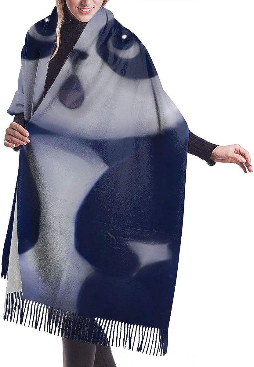 Cute Panda Cashmere Shawl Wrap Scarf Large Warm Scarf For Women
