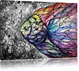 schön gezeichnete Fische schwarz/weiß Format: 120x80 auf