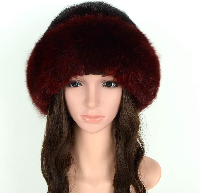 MH Bailment Womens Winter Hat with Fox Brim Real Fur Hats