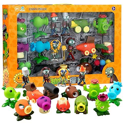 Nuevas plantas genuinas vs. Zombies Toys Figura de acción Modelo Juego de juguetes de disparo Zombie Skittles Zombies 2 Juguetes Zombie Plant Dolls Figuras de acción de zombie