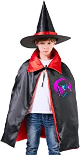 Cowboy Bebop Spike Spiegel Retro Unisex Kids Hooded Cloak Cape Halloween Party Decoration Role Cosplay Costumes Outwear Red