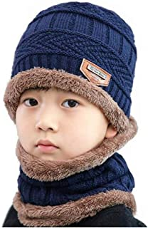 Stonges Unisex Baby Winter Warm Cap Hat Infant Toddler Beanie Earflap Hats Winter Pilot Aviator Warm Cap Blue