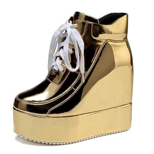 a6000d5785131 Gold Platform Shoes: Amazon.com