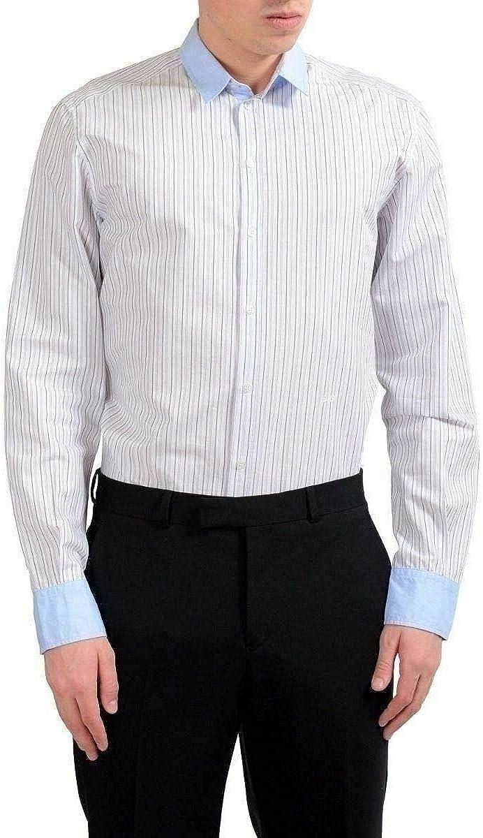 Dolce & Gabbana Men's Striped Long Sleeve Dress Shirt US 16 IT 40