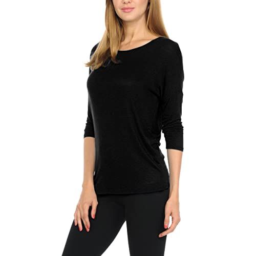adef596ffc5 bluensquare Women T-Shirts Soft Rayon Jersey Top - 3/4 Dolman Sleeves,