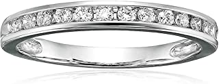 Vir Jewels 1/4 cttw Classic Diamond Wedding Band in 14K White Gold Channel Set