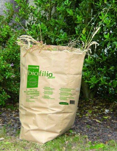 Vilmorin VH06043 Sac à Déchets Vert et Organique Papier 30 L - Lot de 10