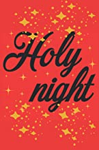 Holy Night: Christmas Notebook,100 ruled paper Paper 6x9 inches,perfect for gift,to sketch,a new diary,ideas book,notepad,...