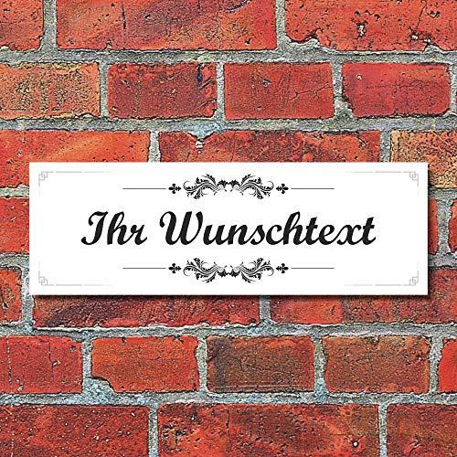 WERBEPUNKT. Schild Vintage Nostalgie Dekoschild Namensschild Türschild Haustür - 30x10 cm