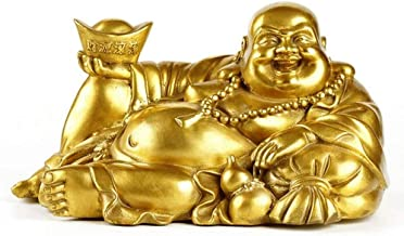 Home Accessories Happy Buddha Statue,Sitting Laughing Buddha,Feng Shui Figurine Wealth and Luck for Home Office Ornamenta...