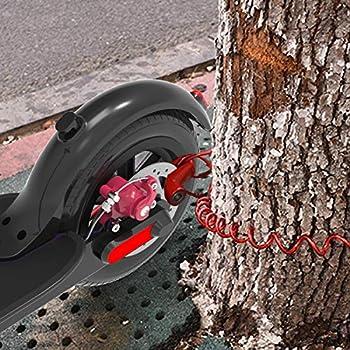 Verrou de Frein à Disque Serrure en Fil d'acier pour Xiaomi M365 Trottinette électrique,Scooter Électrique Anti-Vol De Fil d'acier Antivol Disque Freins,Scooter Accessoire Antivol sécurité (Noir)