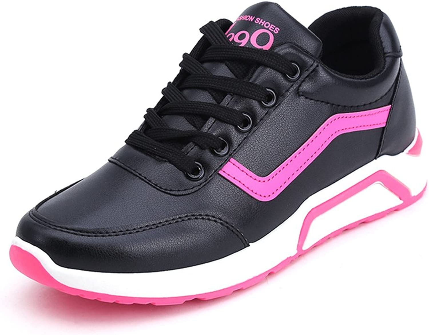 CYBLING Womens Casual Sport shoes Comfort Flat Lace up Running Walking Sneaker