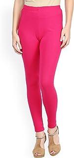 FashGlam Women Premium Ankle Length Cotton Legging - Hot Pink