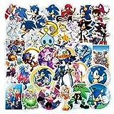 ZHXMD Pegatinas de Juego de Anime Sonic DIY, Motocicleta,...