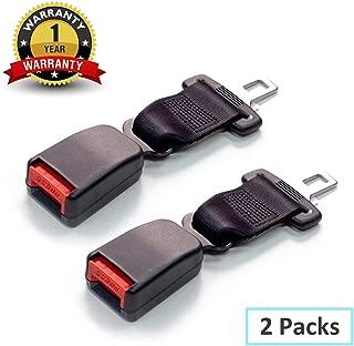 Adjustable Seat Belt Extender-JAMfit 2 Packs Seat Belt Extension E11 Safety Certified (7/8'' Metal Tongue) - 8'' Retractable Seat Belt Extension
