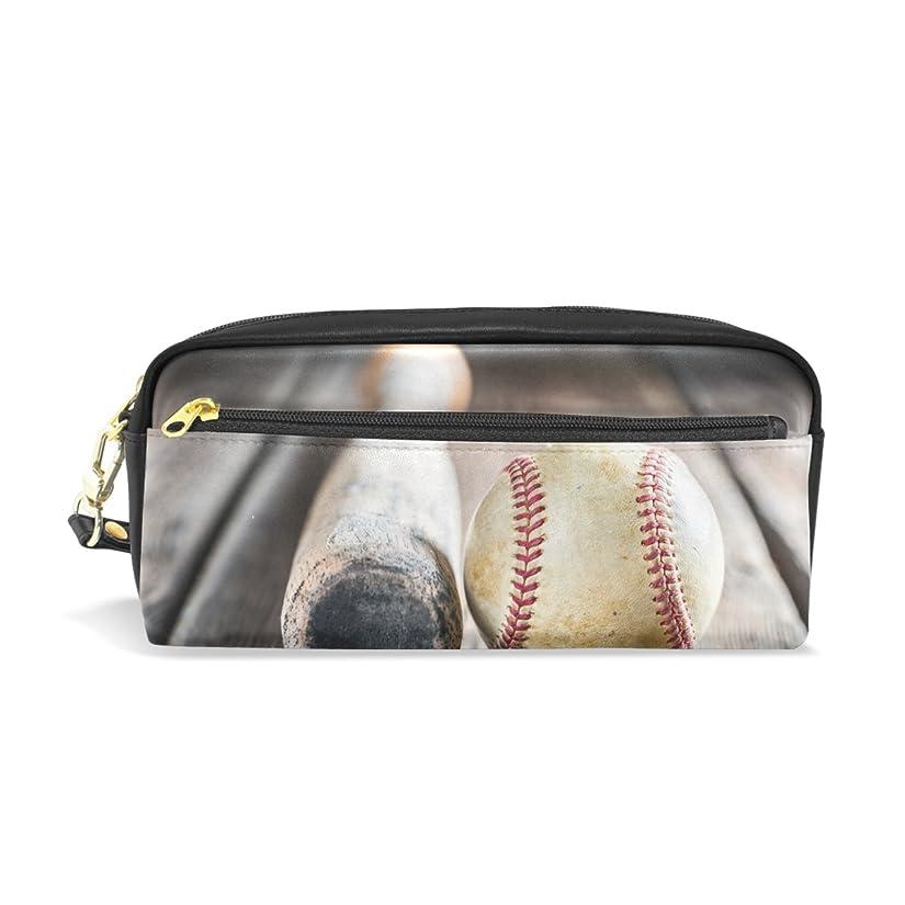 バンカー権限パワーセルAOMOKI ペンケース 化粧ポーチ 小物入り 多機能バッグ レディース 筆箱 野球 ブラック