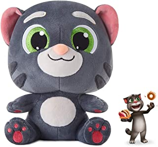 "Talking Plush Toy Electronic Cat Doll Shower Gift Cute Sound Effects with Repeats Your Said Voice Best Buddy for Kids Boy Girls Gift Birthday Present (Talking Tom, 7.8"")"