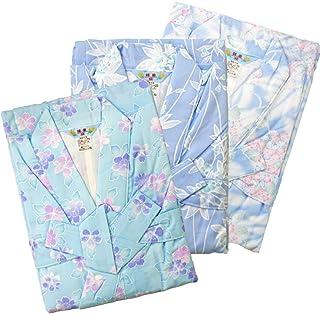 【Mサイズ】ガーゼ寝巻き カラー 婦人用 1枚入 安心安全の日本製 女性用 浴衣 寝間着 3780FY-M (ブルー)