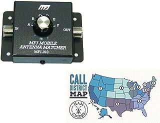 MFJ ~Mobile Antenna Matcher, 10m-80m and Ham Guides TM Pocket Reference Card Bundle