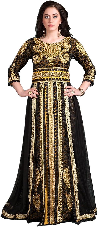 Kolkozy Fashion Women's Designer Handmade Mgoldccan Long Sleeve Wedding Black