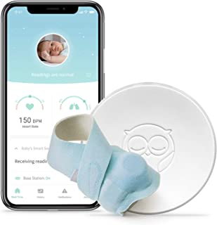 Owlet Smart Sock Baby Monitor + Owlet Accessory Sock Blue 3 Sizes (0-18 Months) - Track Your Infant's Heart Rate & Oxygen ...