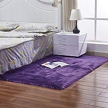 Rectangular Carpet Living Room Sofa Coffee Table Balcony Bay Window Mat Warm and Breathable Rugs,7,45 * 45cm