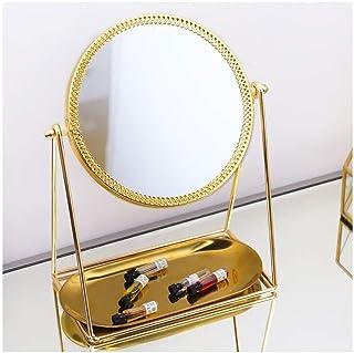 YASE-king Makeup Mirror, Desktop Single Mirror, Phnom Rotating Mirror, Beauty Mirror, European HD Mirror, Face Dressing Ta...