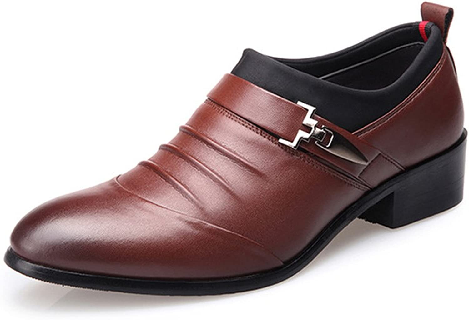 CHENXD shoes, Men's Classic Business Breathable Lined Oxfords shoes Matte PU Leather Splice Upper Slip-on