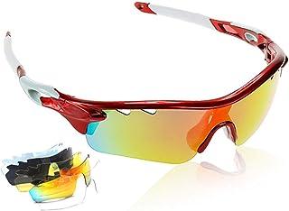 anteojos de sol polarizadas para ciclismo, UV400, para deportes al aire última intervensión, para hombres y mujeres, para correr, ciclismo, bicicleta de montaña, 5 lentes