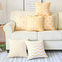 Pack of 6 Throw Pillow Covers for Couch, Modern Decorative Geometric Patterns,Pillow Case Cushion Case for Room Bedroom Ro...