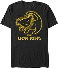 Disney Men's Lion King Painted Baby Simba Poster Graphic T-Shirt