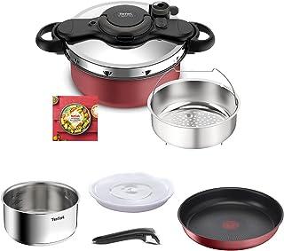 Tefal Ingenio All-In-One Batterie de cuisine 8 p, Faitout, Poêle antiadhésive, Casserole inox, Panier vapeur, Couvercles, ...