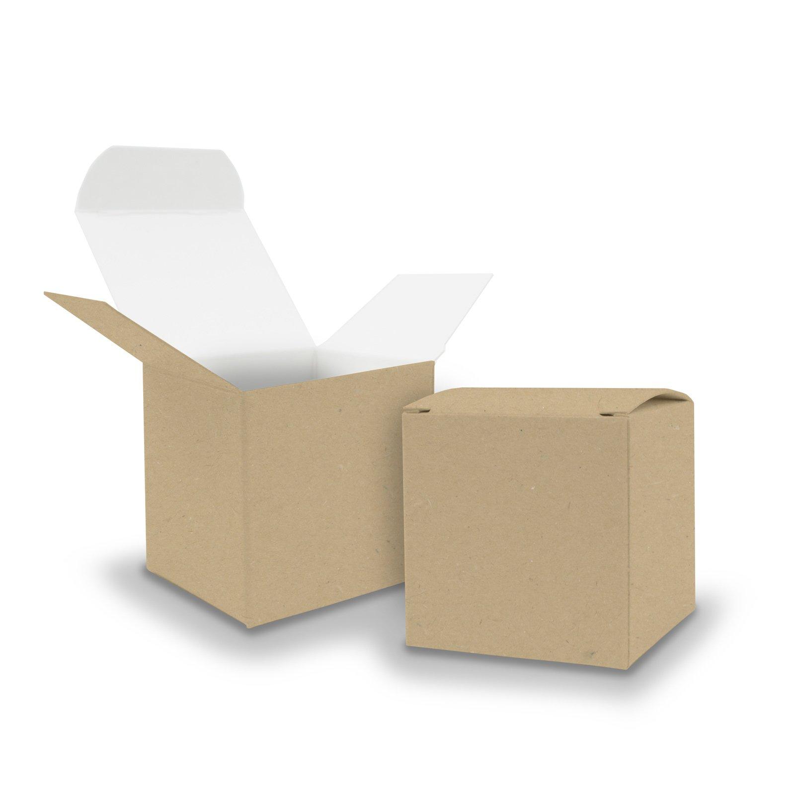 25 X itenga Cubo cartón kraft 6.5 x 6.5 cm exterior marrón Interior Color Blanco caja de regalo para rellenar (boda invitados.Calendario de Adviento. Bautizo. Cumpleaños. regalo. Comunión): Amazon.es: Hogar