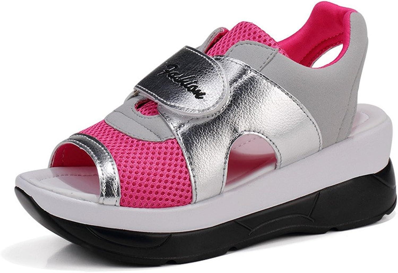 Stay real Women's Comfort Peep Toe Walking Wedges Sandals Platform Heeled Walking shoes