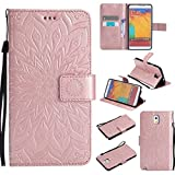 KKEIKO Galaxy Note 3 Case, Galaxy Note 3 Flip Leather Case [with Free Tempered Glass Screen Protector], Shockproof Bumper Cover and Premium Wallet Case for Samsung Galaxy Note 3 (Pink #2)