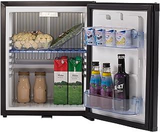 SMETA Countertop Mini Portable Absorption Refrigerator 110V/12V with Lock,Black