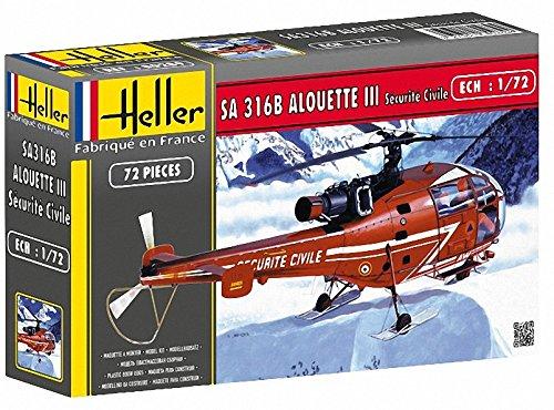 Heller 80289 - Modellino da Costruire, Elicottero Sicurezza Civile, Scala 1:72 [Importato da Francia]