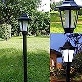 Spring Patio Standing Lantern, Street Light Lamp Pole Light, Vintage Waterproof Outdoor Lantern for Landscape Pathway Driveway Street Patio Garden Yard Garden Decoration Black