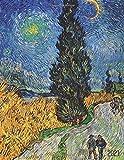 Vincent van Gogh Agenda 2021: Sentiero di Notte in Provenza   Agenda di 12 Mesi con Calendario 2021   Pianificatore Giornaliera   Post Impressionismo   Pittore Olandese