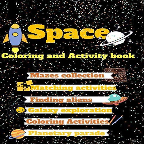 Space coloring and activity book: kids books,Activity book f