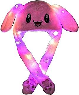 chiphop Divertente Cappello di Coniglio Cappello con Luce a LED Orecchie Che Si Muovono   per Bambini e Adulti  Accessori ...