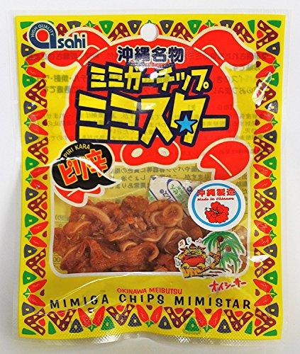 ピリ辛ミミガーチップ ミミスター 10g×28袋 あさひ 厳選されたコラーゲンたっぷりのミミガー 豚の耳の皮 熟成 乾燥させた珍味 沖縄土産